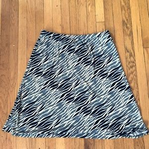 Vintage Flowy Skirt, Patterned